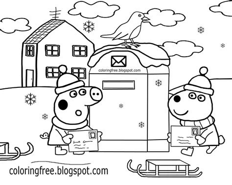 Easy Preschool Activity Cute Red Robin Bird Winter Scene