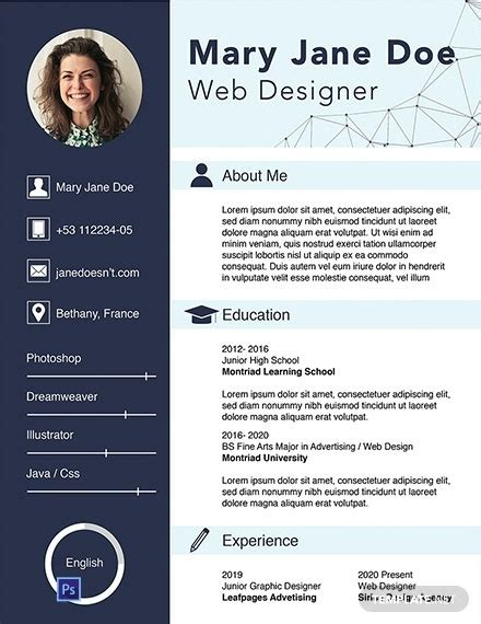 Web Designer Resume Template by Web Design Resume Template Tipsense Me