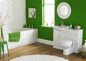 Bathroom designs interior with green wall paint colors for Bathroom interior designers near me