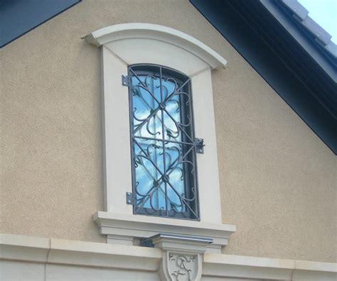 custom  wrought iron window bars