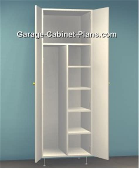 Utility Cabinet Plans   24 inch Broom Closet   Garage
