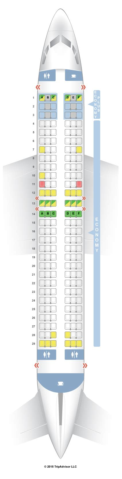 boeing 737 plan sieges seatguru seat map westjet boeing 737 800 738