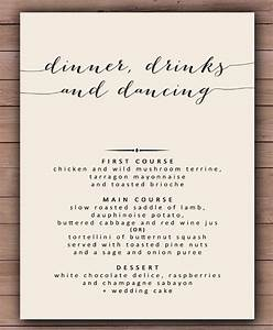 30 dinner menu templates free sample example format With wedding menu samples templates