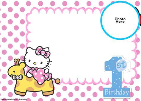 kitty st birthday invitation template drevio
