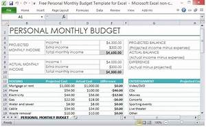personnel budget template - free personal monthly budget template for excel