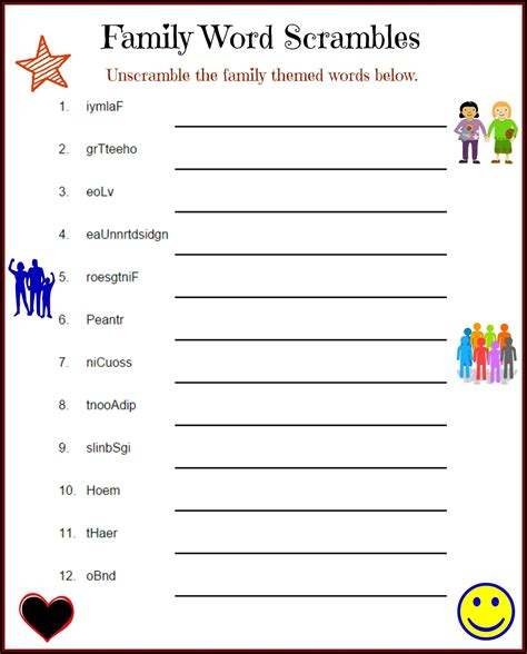 free printable word game worksheets word scramble puzzles free k5 worksheets educative puzzle for kids family picnic games