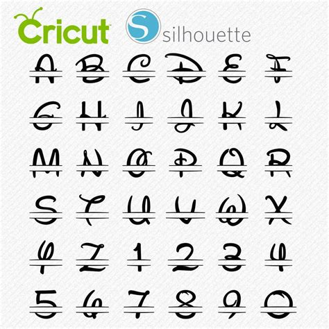 Freesvg.org offers free vector images in svg format with creative commons 0 license (public domain). DISNEY SPLIT MONOGRAM letters svg Walter font split ...