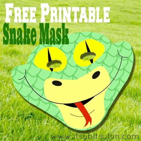 printable snake mask template itsy bitsy fun