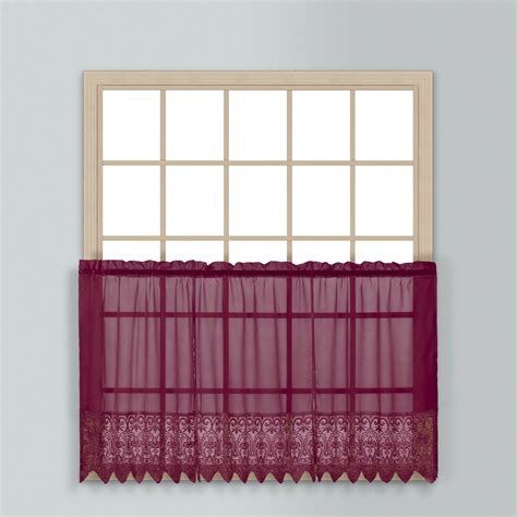 Kmart Kitchen Tier Curtains by United Curtain Company Valerie 24 Quot Window Tier Home