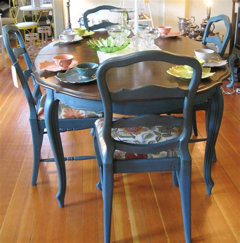 navy blue kitchen table set aubusson blue looking country painted furniture