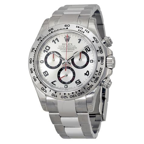 Rolex Cosmograph Daytona Silver Dial 18K White Gold Oyster ...