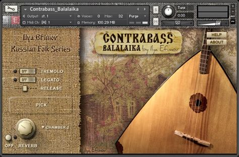 Ilyia Efimov Contrabass Balalaika Russian Folk Series