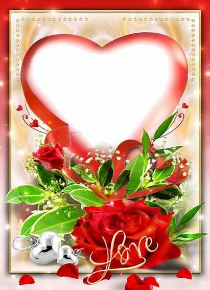 Frame Transparent Heart Background Romantic Frames Rose