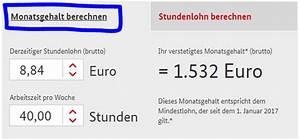 Stundenlohn Brutto Berechnen : calculator de salariu minim in germania ~ Themetempest.com Abrechnung