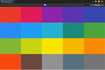 Material Colors Unity Editor Window