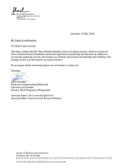 reference letter attending grant training gianelli