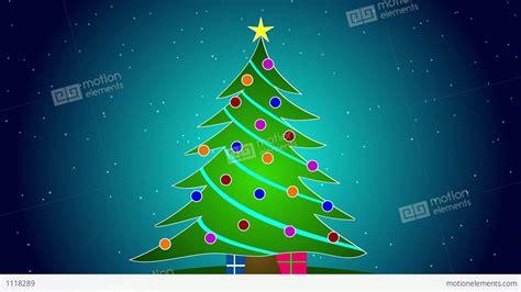Merry Christmas Tree Stock Animation