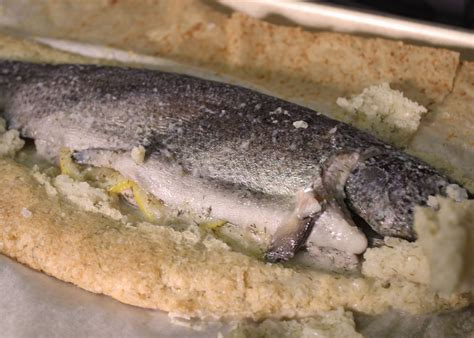 baking fish whole fish baked in salt crust sophaki cooks