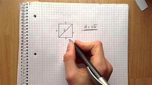 Durchmesser Aus Umfang Berechnen : diagonale im quadrat ausrechnen hypothenuse ausrechen youtube ~ Themetempest.com Abrechnung