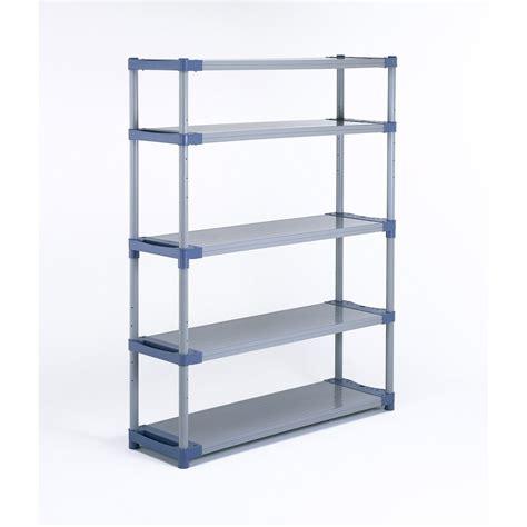 table de cuisine en verre pas cher etagère résine grosfillex 5 tablettes gris bleu