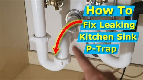shower has no water but sink does why is my kitchen sink p trap leaking at connection nut