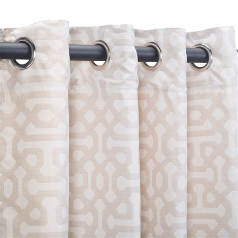 Sunbrella Drapes - fretwork flax grommet sunbrella outdoor curtains