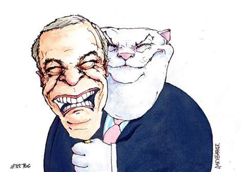 nigel farage fat cat uk political cartoonist cartoons