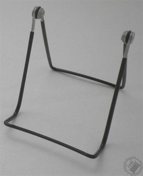 set    wire adjustable black vinyl coated book plate display stands display easel