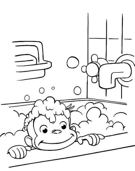 fare l nella vasca da bagno curioso come george george fa il bagno nella vasca con