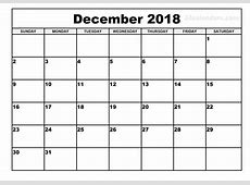 Download Template November & December 2018 Blank Calendar