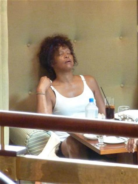 Whitney Houston looks exhuasted prior to Hunter Valley's