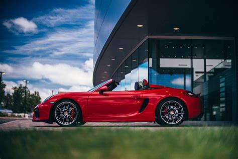 guards red porsche guards red porsche boxster spyder with color matched