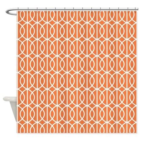 celosia orange modern pattern shower curtain by