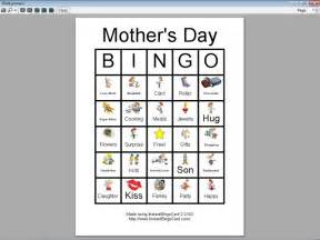 Mother's Day Bingo Cards