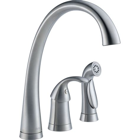 delta kitchen faucets delta faucet 4380 ar dst pilar arctic stainless one handle
