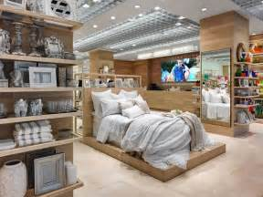interior home store zara home store milan interior visual merchandising bed display displays