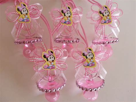 minnie mouse baby shower decorations ideas 12 minnie mouse pink pacifier necklaces baby shower