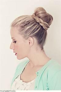A Braided Ballerina Bun Hair Tutorial PinPoint