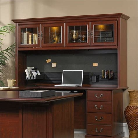 sauder heritage hill large executive desk hutch sauder heritage hill large executive desk hutch ebay