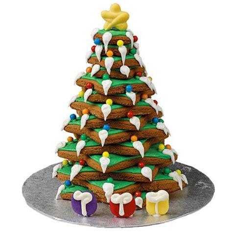 wilton pre baked gingerbread christmas tree kit cookies
