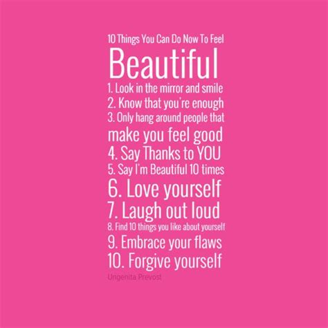 10 things you can do now to feel beautiful 1 look in the