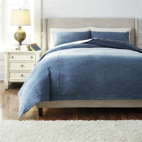 denim duvet cover signature design by denim 3 duvet cover set
