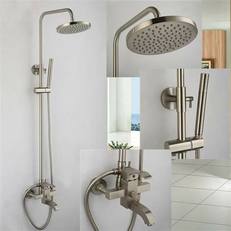 Bathroom Shower Fixture Sets by Brushed Nickel 8 Quot Shower Faucet System Tub Mixer Tap