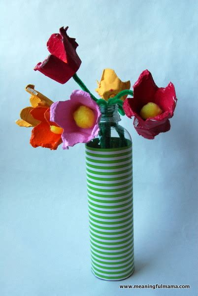 egg carton flower bouquets fun family crafts