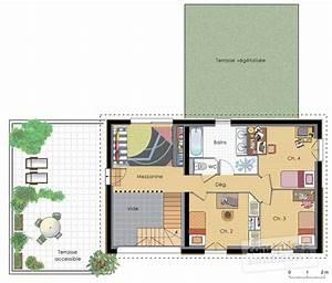 maison a energie positive 2 detail du plan de maison a With maison a energie positive plan