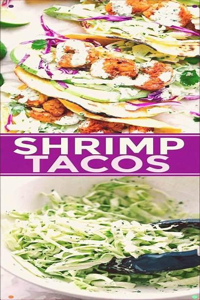 Slaw Tortilla Shrimp Avocado Cilantro Packed Seasoned