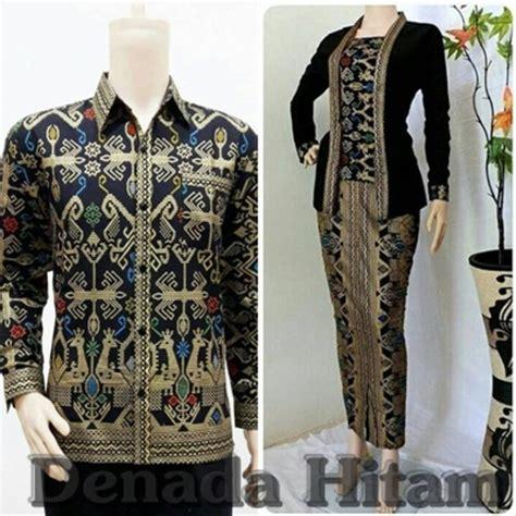 jual baju batik sarimbit denada lengan panjang kutubaru seragam pesta modern