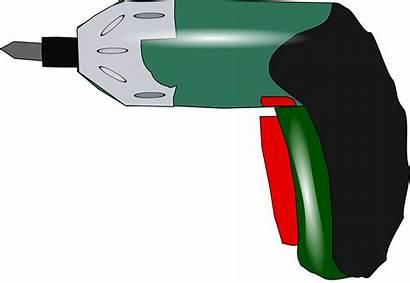 Drill Clipart Clip Electric Screwdriver Power Vector