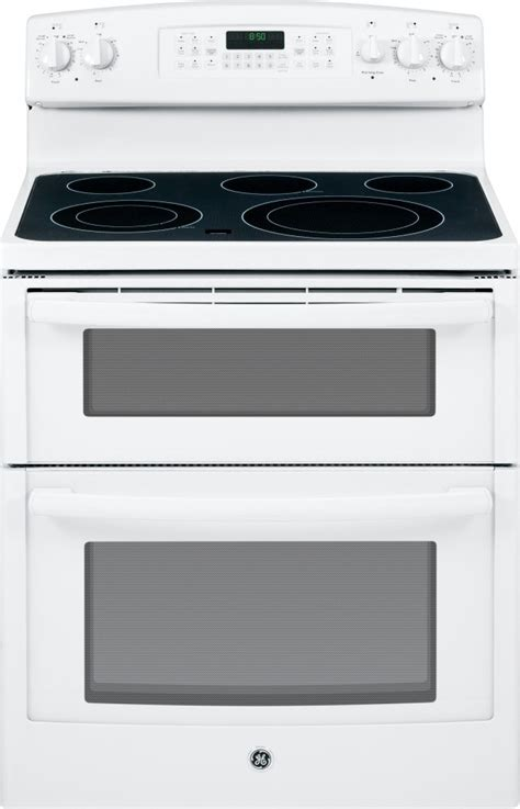 jbdfww ge   standing electric double oven range white