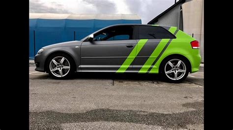 audi s3 8p tuning dia show tuning audi a3 s3 8p mit graphit neongr 252 n folierung by bb folien